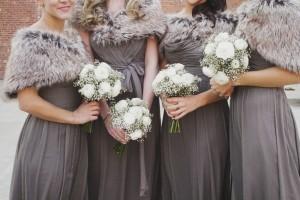 Winter-Wedding-Gray-Bridesmaid-Dresses