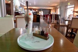 Smiths at Gretna Green Hotel. Eating out. Knickerbocker Glory, 25th May 2016 JONATHAN BECKER