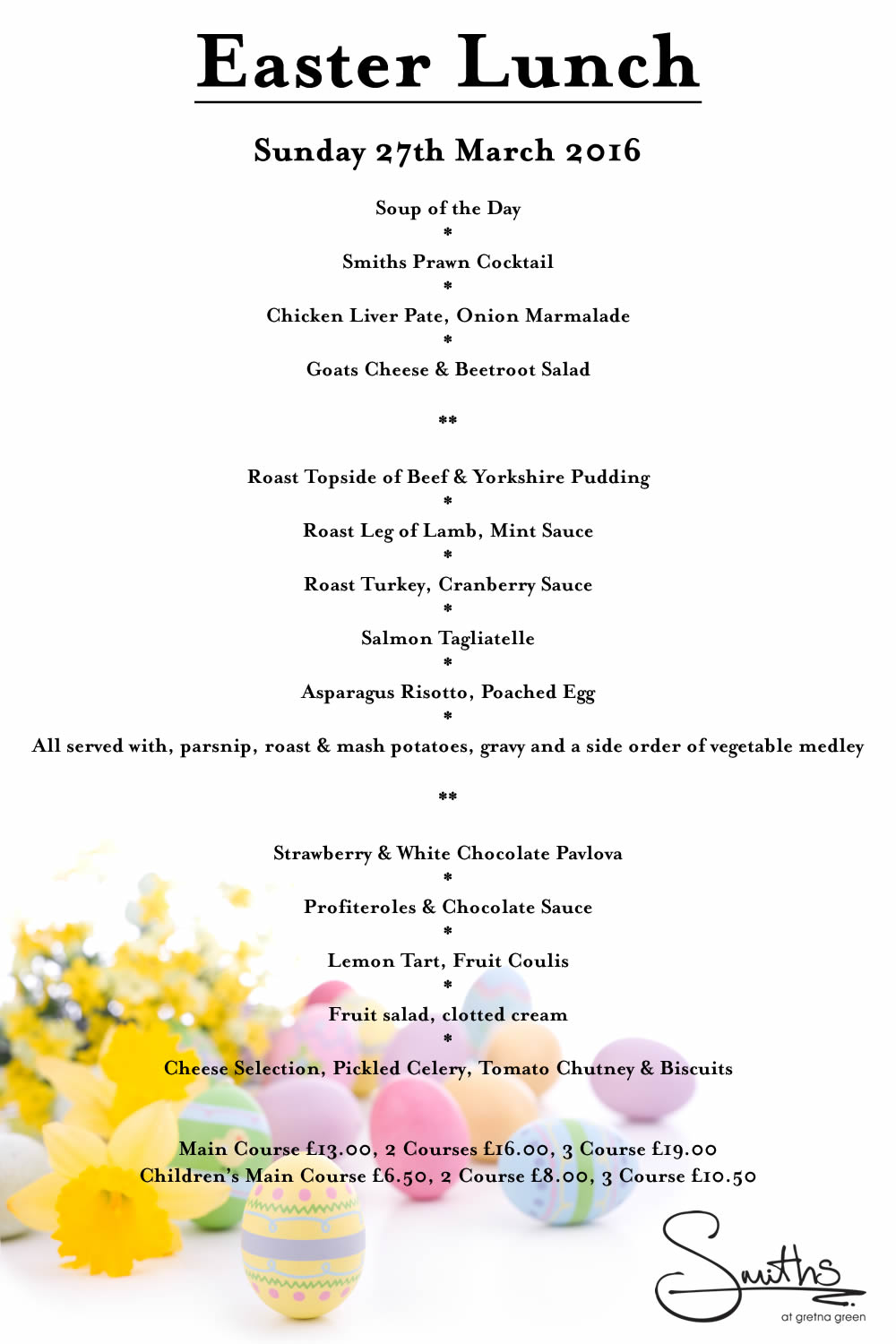 Easter Dinner Ideas Come For Easter Sunday Brunch At Smiths