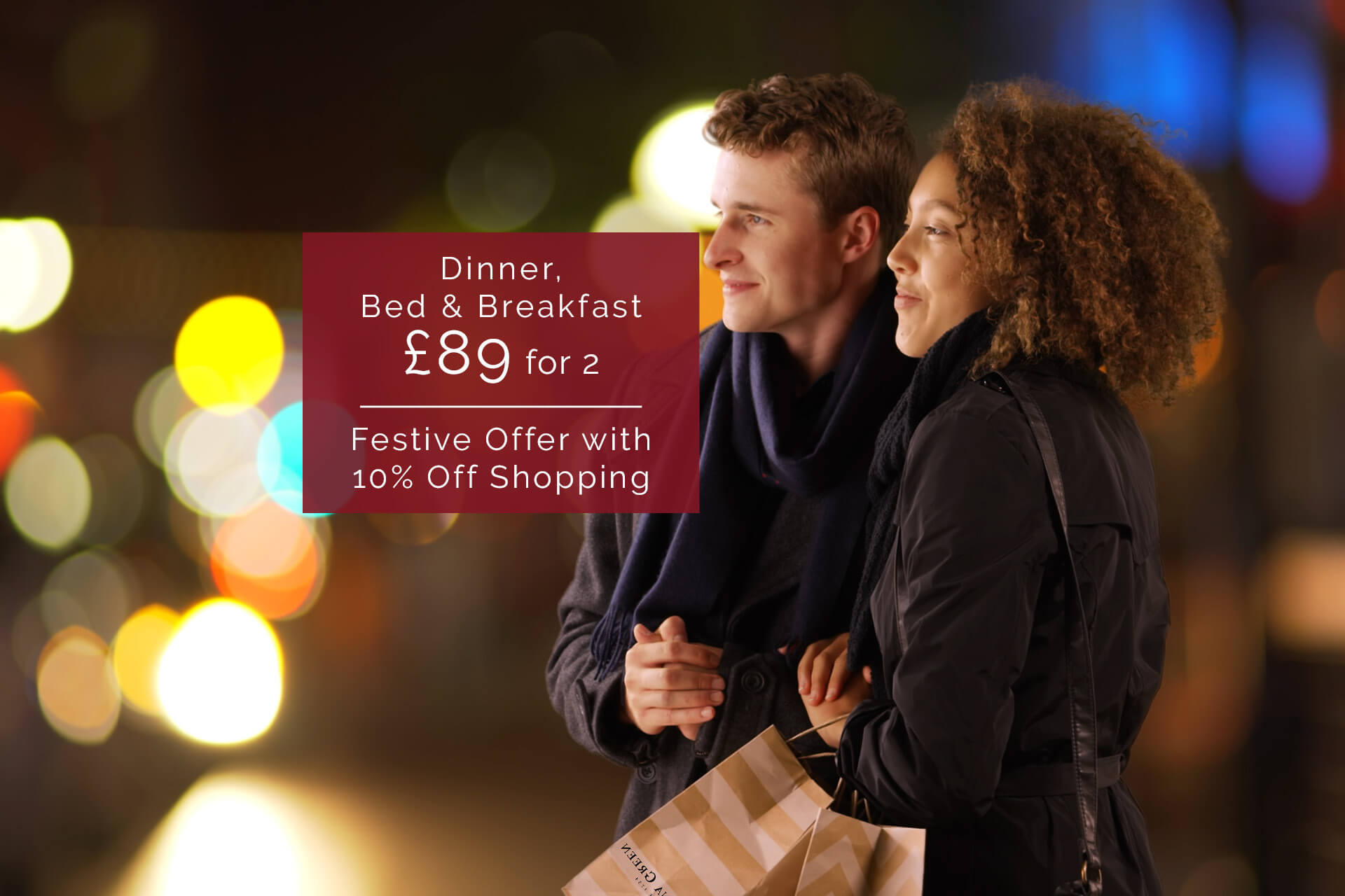 Festive Exclusive Dinner, Bed   Breakfast £89 for 2